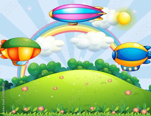 Papiers peints Avion, ballon Balloon