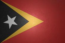 Flag Of East Timor On Stone Background, 3d Illustration