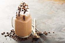 Chocolate Frappe Coffee With W...
