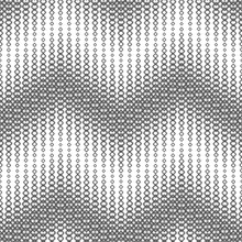 Seamless Pattern On A White Background. Consists Of Geometric Elements. Useful As Design Element For Texture, Pattern And Artistic Compositions.