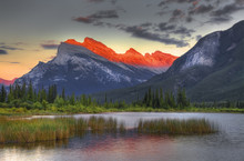 Mount Rundle; Vermillion Lake;...