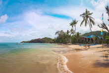 Haad Yao Beach On Koh Phangan Island, Thailand