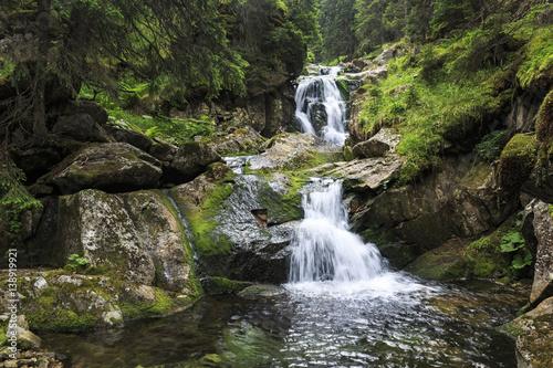 Fototapeta Waterfall in the Carpathians