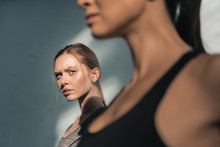 Portrait Of Young Sporty Women In Gym