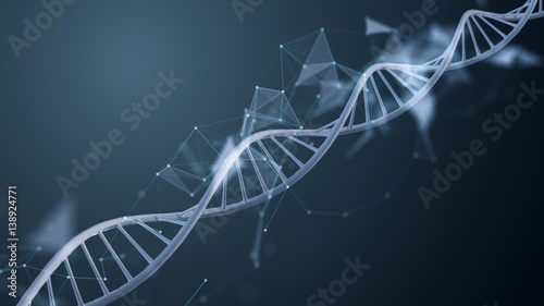 Montage in der Fensternische Spirale The blue dna helix