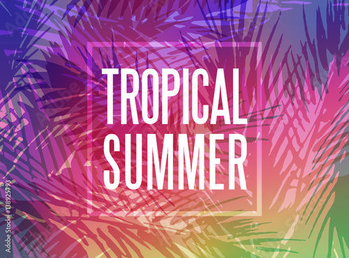 Foto  Tropical summer background