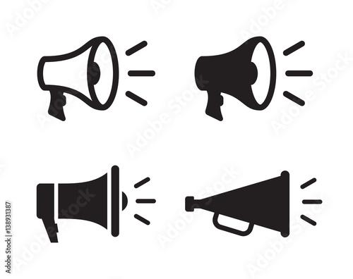 Fotografia  Megaphones icons set