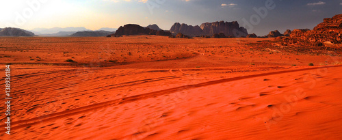 Canvas Prints Red Wadi rum landscape,Jordan