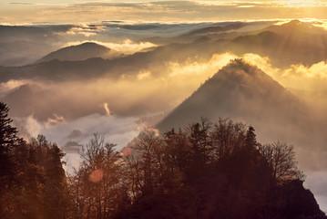 Naklejka Pieniny - Krajobraz z Trzech Koron