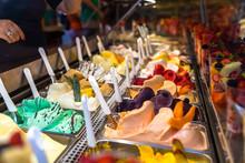 Italian Ice Cream In Cafe