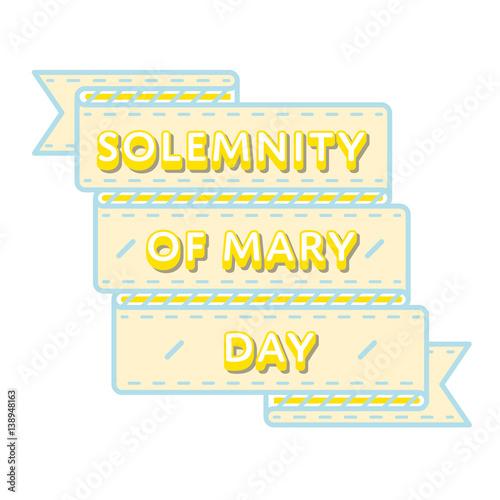 Solemnity of mary day emblem isolated vector illustration on white solemnity of mary day emblem isolated vector illustration on white background 1 january world catholic m4hsunfo