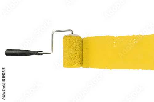 Paint Roller With Yellow