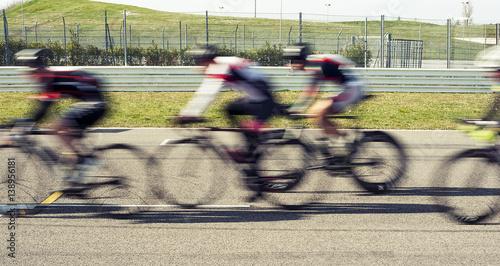 Foto op Plexiglas Fietsen To cross the finishing line