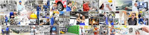 Arbeit in der Industrie und Handwerk, Personen und Interieur // Work in industry Fototapete