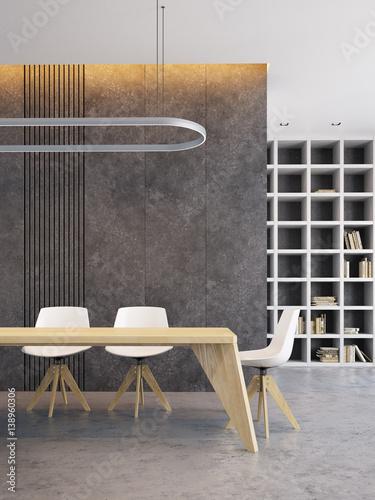 Fotografie, Obraz  minimalism style interior of dining room