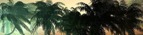 Cadres-photo bureau Olive Panorama of tropical beach. an island in the ocean.