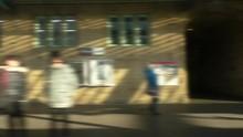 Blurred Moving Train Passenger...