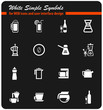 utensils for beverages icon set