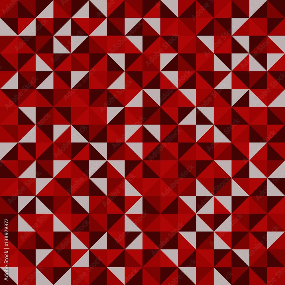 Mosaic. Seamless pattern of geometric shapes. Geometric vector background.