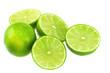 Green lemon isolated over white