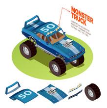 Monster Car 4wd  Model Isometr...