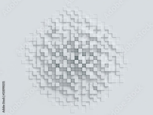 cubical abstract background 3d rendering © koya979