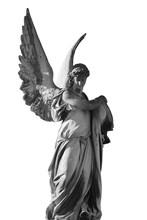 Vintage Image Of A Sad Angel