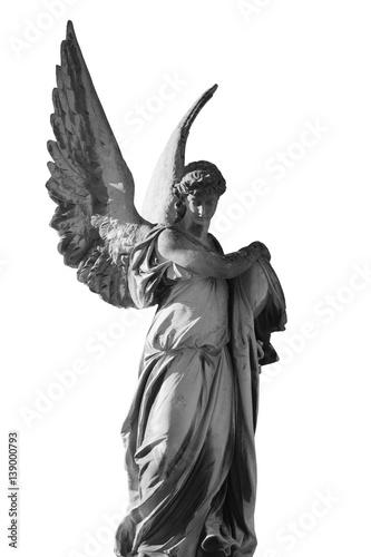 Poster de jardin Monument Vintage image of a sad angel