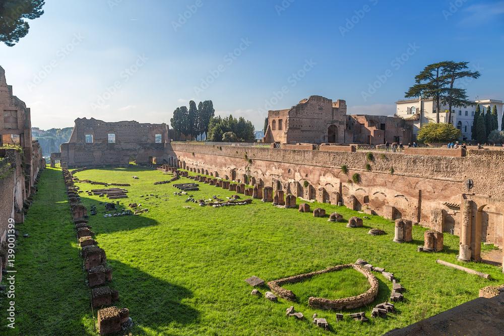 Valokuva Rome, Italy. Stadium in the palace of Domitian, 80 - 92 years.