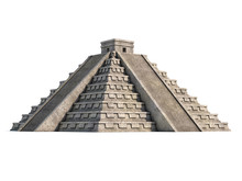 Mayan Pyramid Isolated On White 3d Rendering