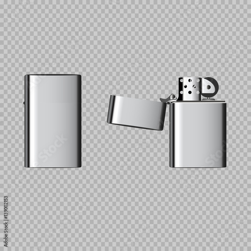 Fotografía eps 10 vector realistic lighter isolated on transparent background
