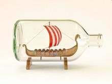Viking Ship In Glass Bottle