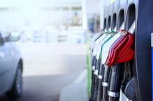 Gas Station. Fuel Dispenser An...