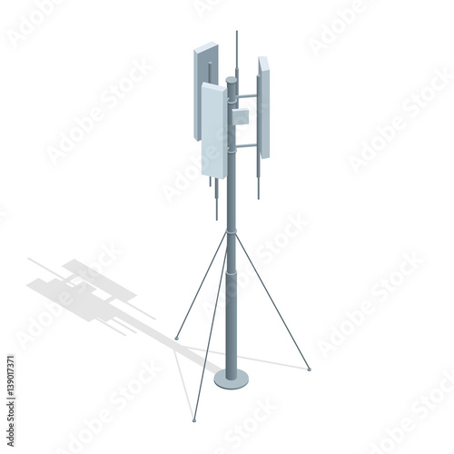 Isometric Telecommunications towers Poster Mural XXL