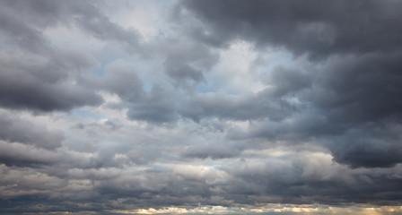 Natural background: dark stormy sky