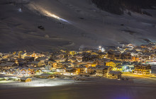 Alpine Ski Resort At Night,  W...