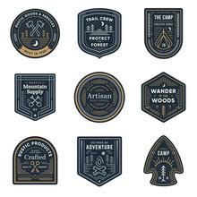 Vintage Outdoor Camp Badges