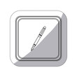 sticker monochrome silhouette square button with fountain pen icon vector illustration