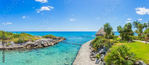 Fotografie, Obraz  Caribbean beach in Mexico