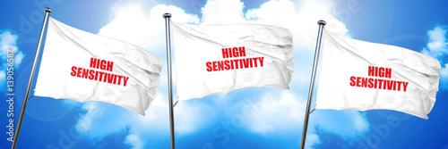 Fotografia  high sensitivity, 3D rendering, triple flags