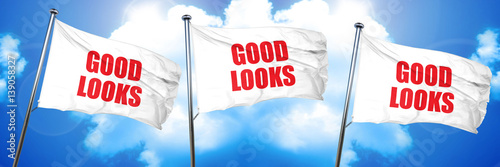 Photographie  good looks, 3D rendering, triple flags