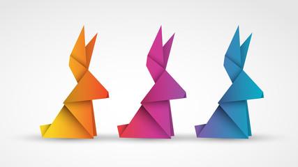 wielkanocne zajączki origami
