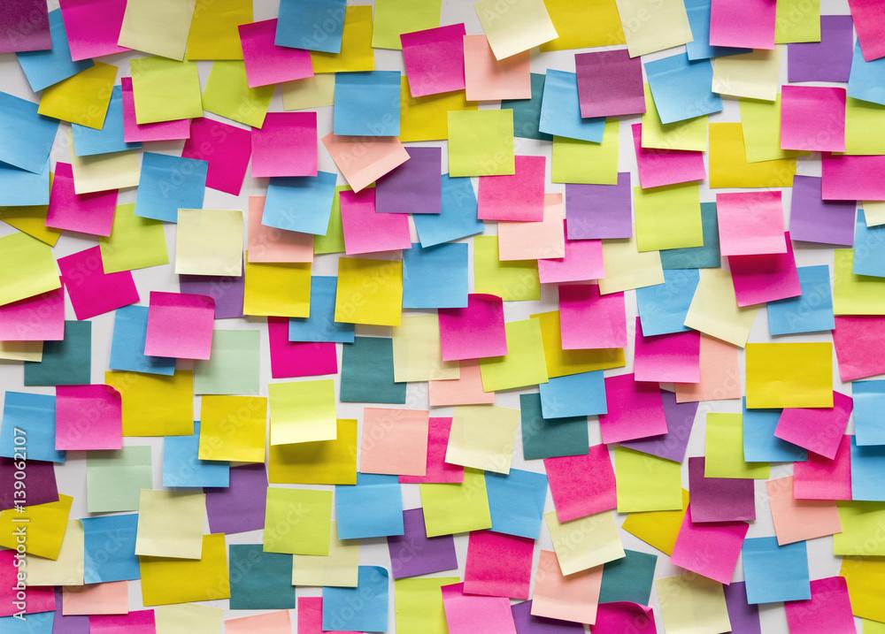 Fototapety, obrazy: Sticky Note Post It Board Office