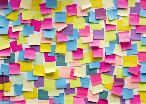 Fotografía  Sticky Note Post It Board Office