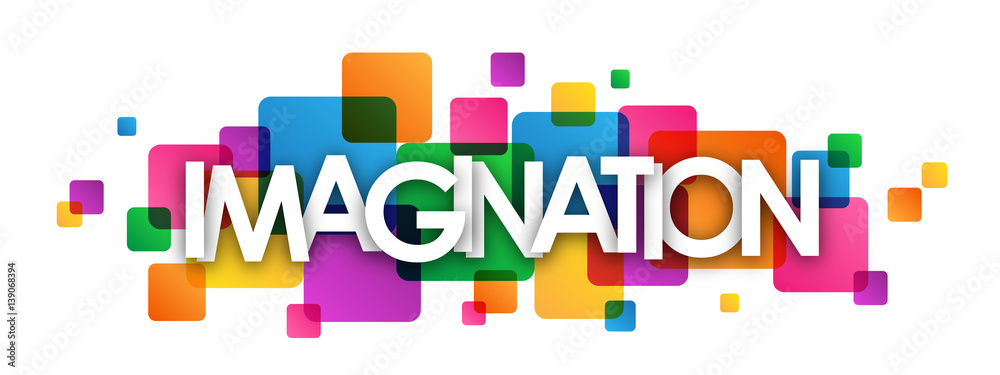 Fototapeta IMAGINATION Colourful Vector Letters Banner