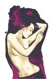 sensitive woman, vector illustration, - 139073183