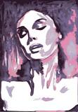 Wrażliwa portret kobieta, wektor - 139073900
