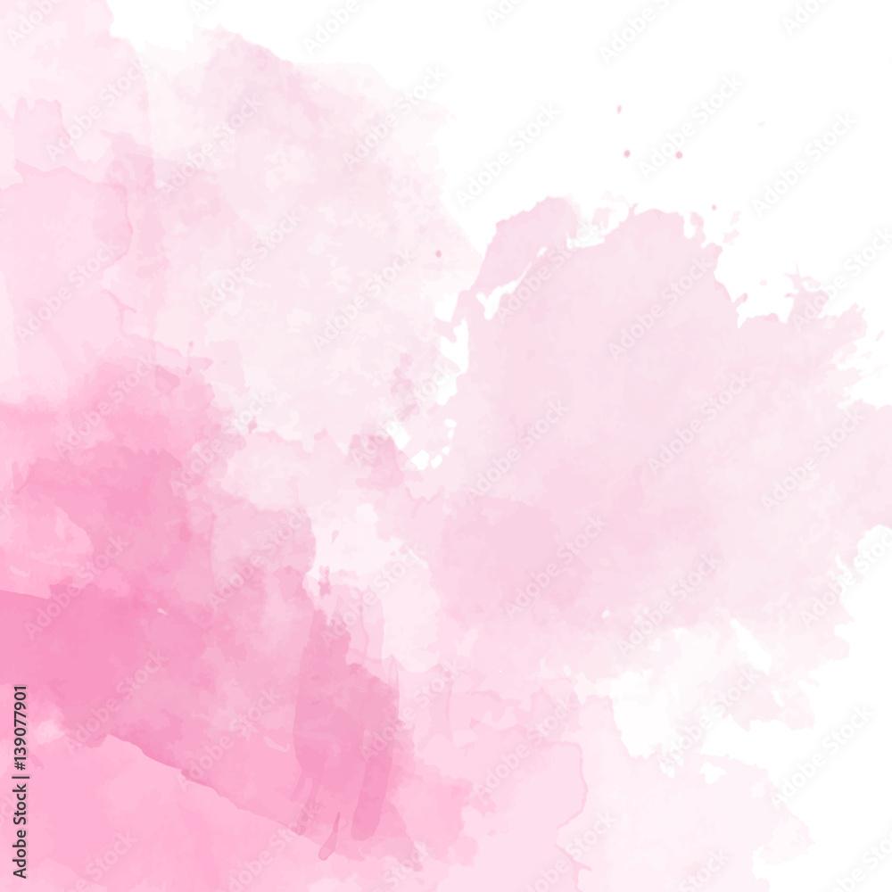 Różowy akwarela tło wektor <span>plik: #139077901 | autor: Wiktoria Matynia</span>