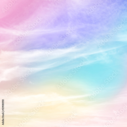 Fotografie, Obraz  Pastel rainbow colored background