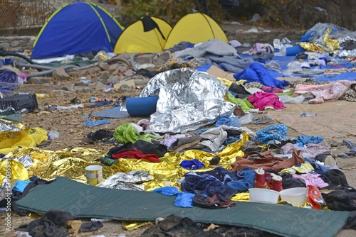 Photo refugee camp Eftalou Lesvos